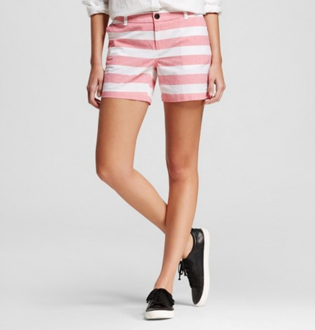 Pink and white striped shorts | 11 Magnolia Lane