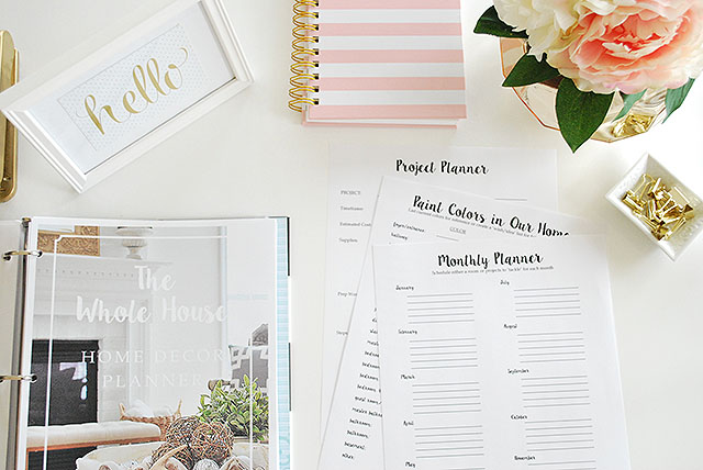 Organize your home decor with our Whole House Home Decor Planner