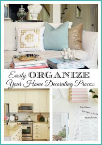 How to easily organize and make progress in decorating your entire home. {free home decor planner printable}
