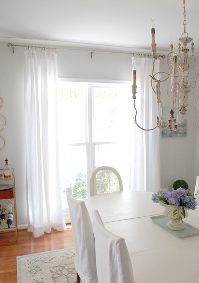 Dining Room Updates Including New Linen Draperies | 11 ...