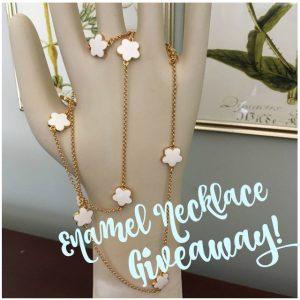 Enamel Flower Necklace Giveaway!