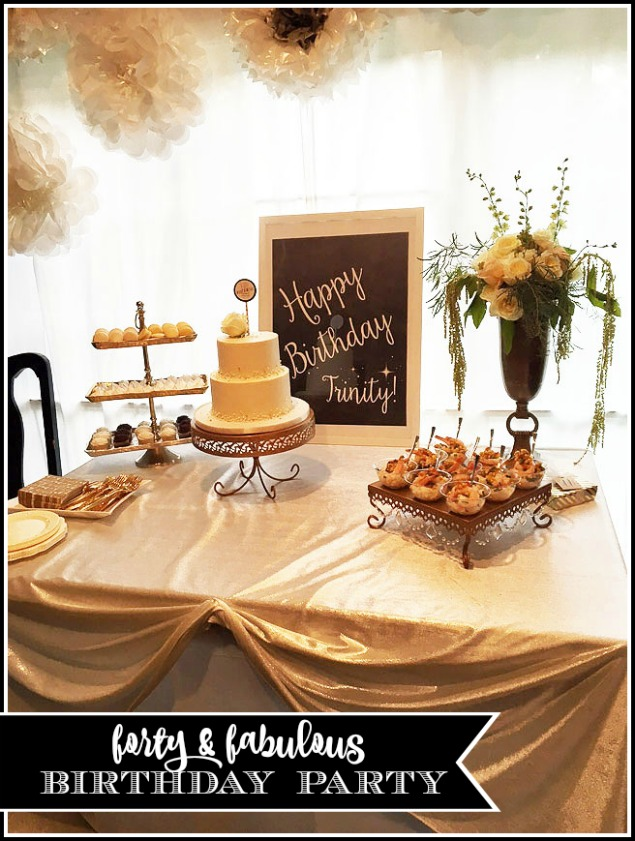 "Easy ideas to host an elegant and fun ""forty and fabulous"" theme party for a 40th birthday celebration"