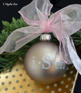 Easy DIY Gift Idea: Monogrammed Christmas Ornaments   11 Magnolia Lane