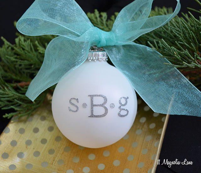 Easy DIY Gift Idea: Monogrammed Christmas Ornaments | 11 Magnolia Lane