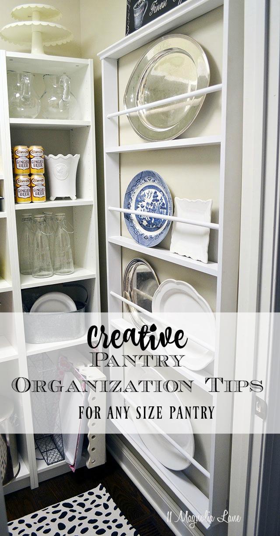 Creative pantry organization tips for pantries of all sizes! | 11 Magnolia Lane