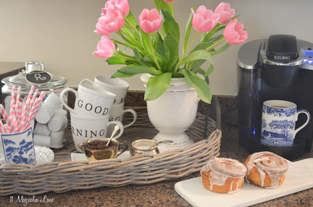 Set up a coffee bar or station to make mornings run more smoothly! | 11 Magnolia Lane