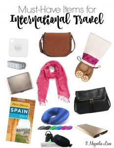 My must-have items for international travel | 11 Magnolia Lane