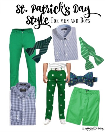 St. Patrick's Day style for men and boys | 11 Magnolia Lane