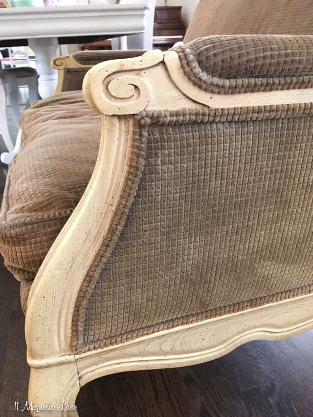 French settee before side