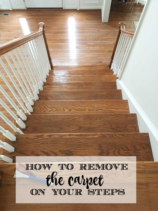 carpet runner from your wood stairs