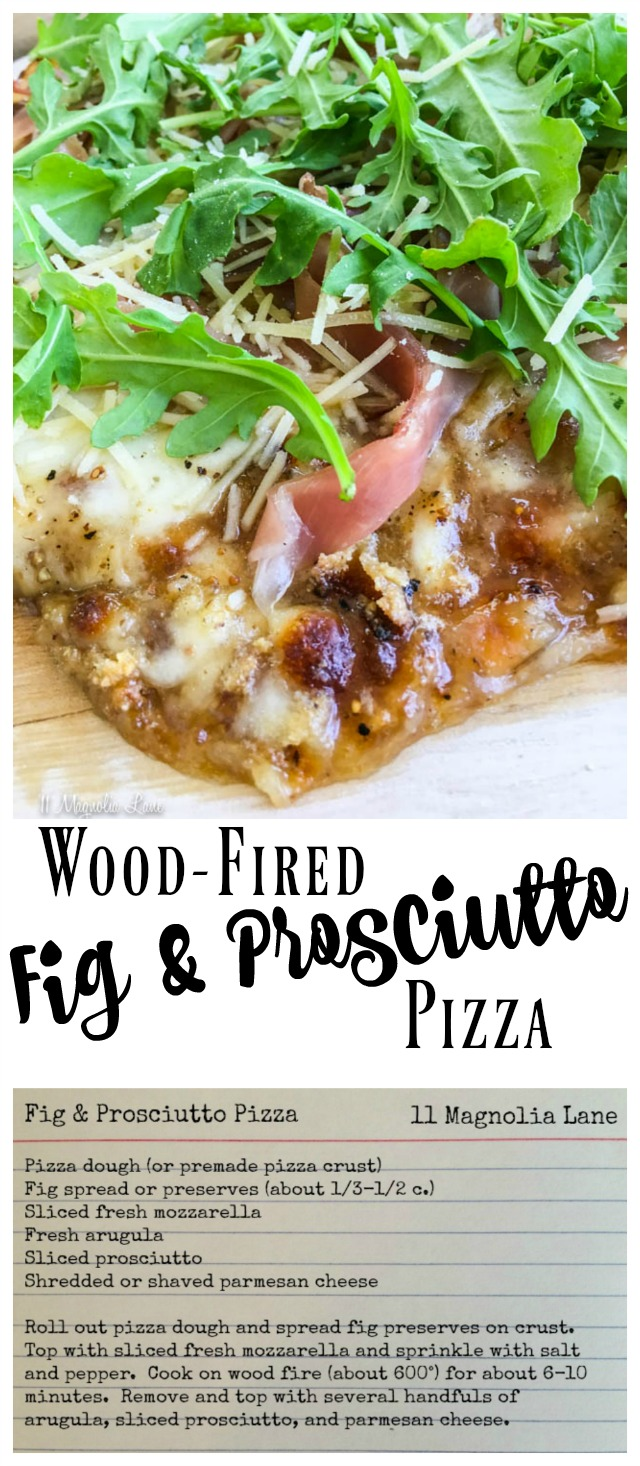 Wood-fired fig and prosciutto pizza recipe