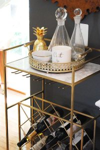 Our Updated Gold Bar Cart