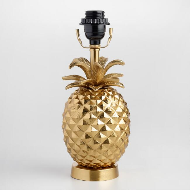Cute gold pineapple accent lamp for less than $30