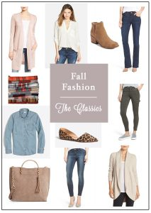 A collection of stylish, classic wardrobe pieces perfect for fall