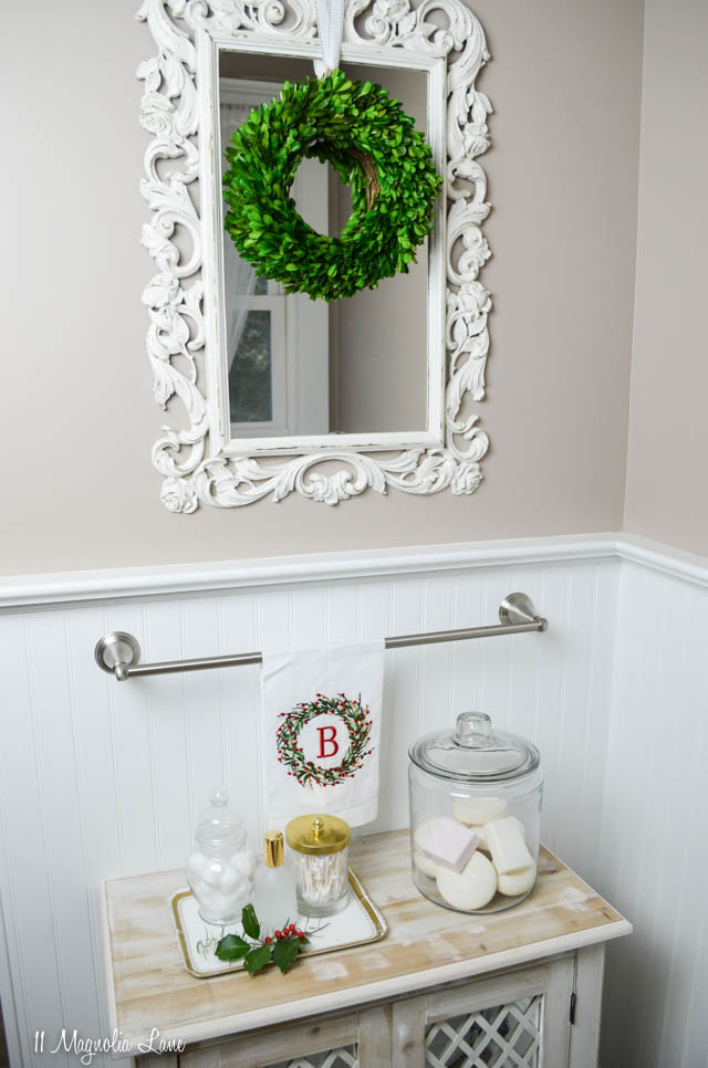 Christmas 2017 bathroom