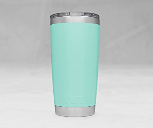 YETI Seafoam Tumbler; 20 oz with lid