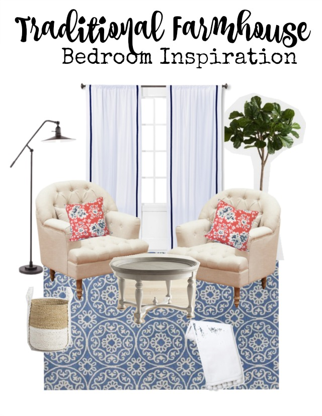 Traditional farmhouse style bedroom inspiration   11 Magnolia Lane