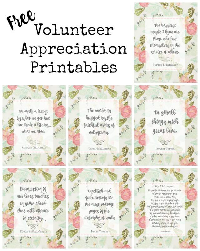 Pink floral volunteer and teacher appreciation printables   11 Magnolia Lane