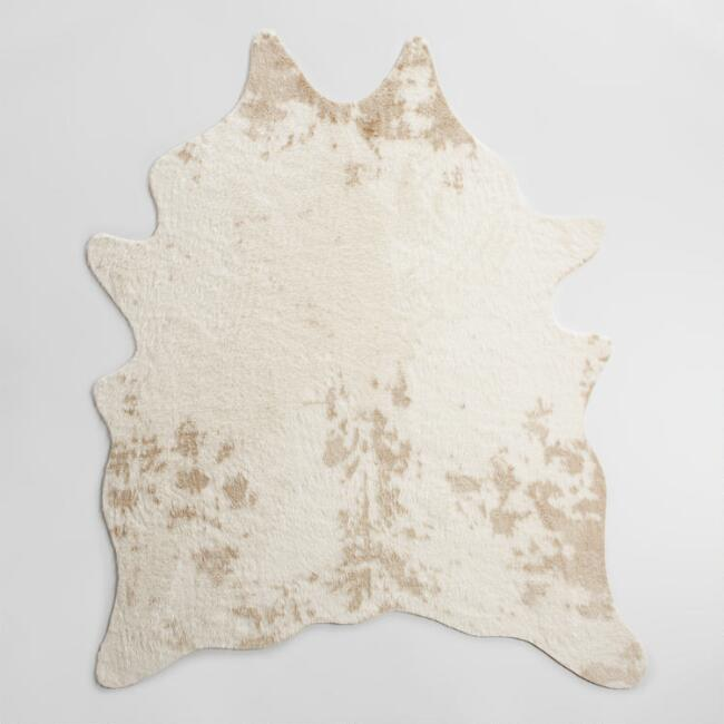 An affordable, quality cowhide rug