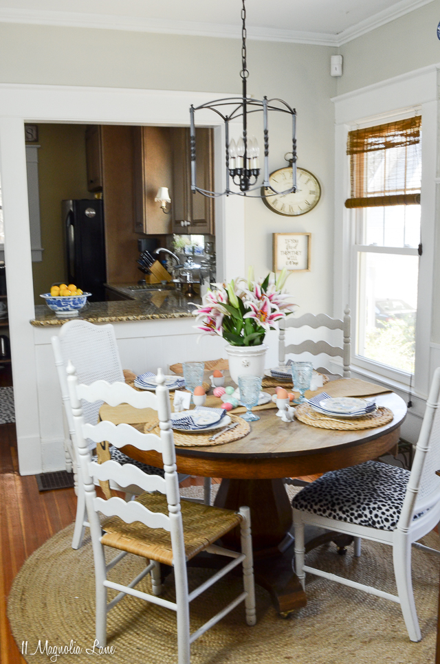 Spring dining room in 100-year-old cottage | 11 Magnolia Lane
