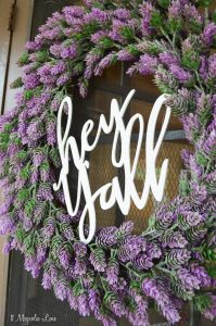 Spring lavender Hey Y'all Wreath | 11 Magnolia Lane
