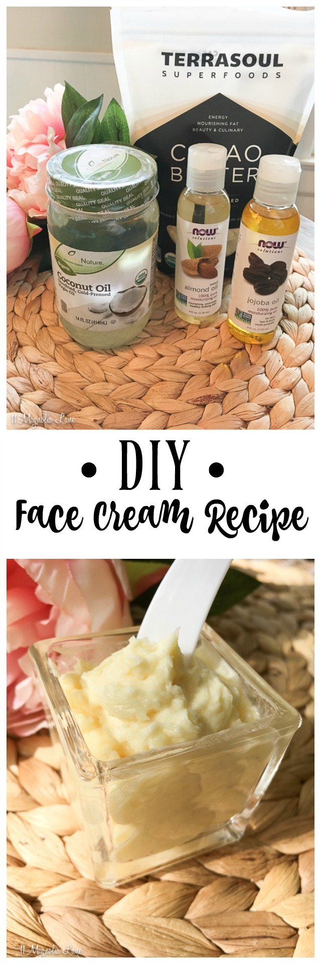 DIY organic face cream recipe with essential oils | 11 Magnolia Lane