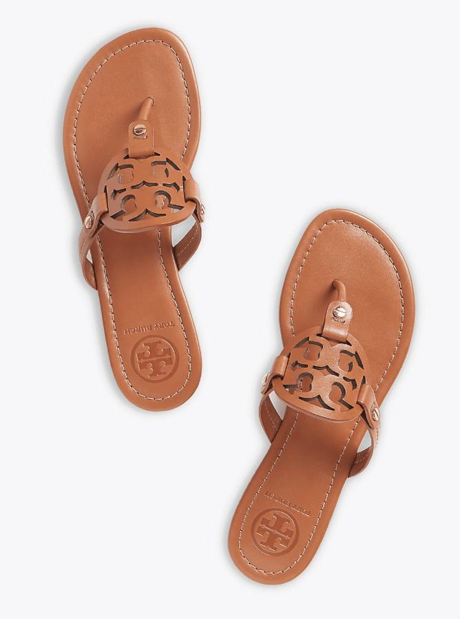 Tory Burch Miller Sandals in Vintage Vachetta