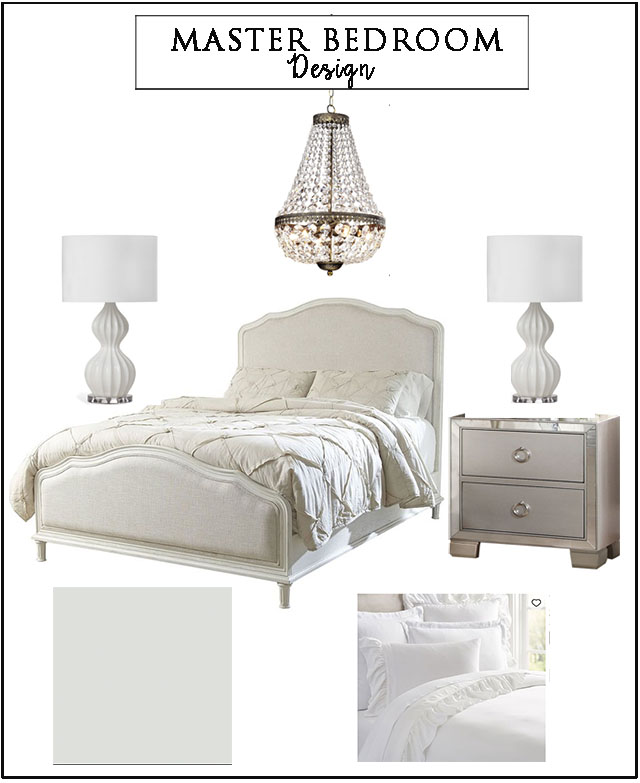 A classically styled master bedroom on a budget