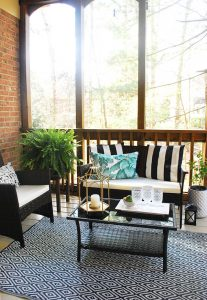 How To Clean Your Porch After Winter {And Our New Screen Porch Reveal!}