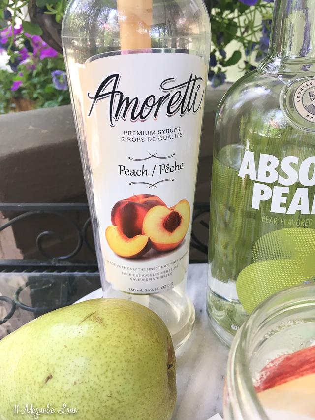 No-carb peach pear cocktail recipe | 11 Magnolia Lane