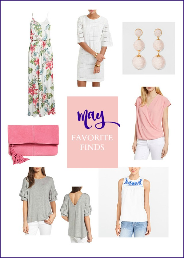 A collection of sale items perfect for wearing in late spring early summer