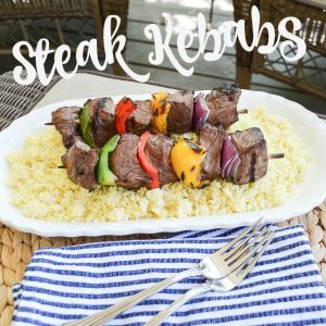 Delicious and easy (i.e. kid-friendly!) steak kebab recipe for the grill | 11 Magnolia Lane