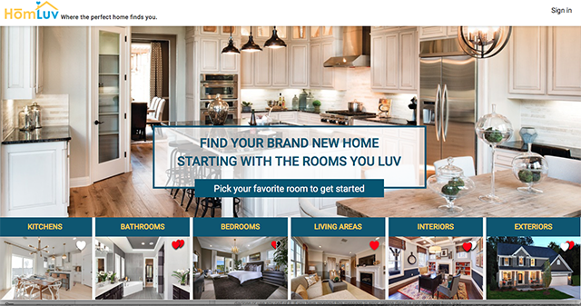HomeLuv is an easy way to find a new home floorpan online