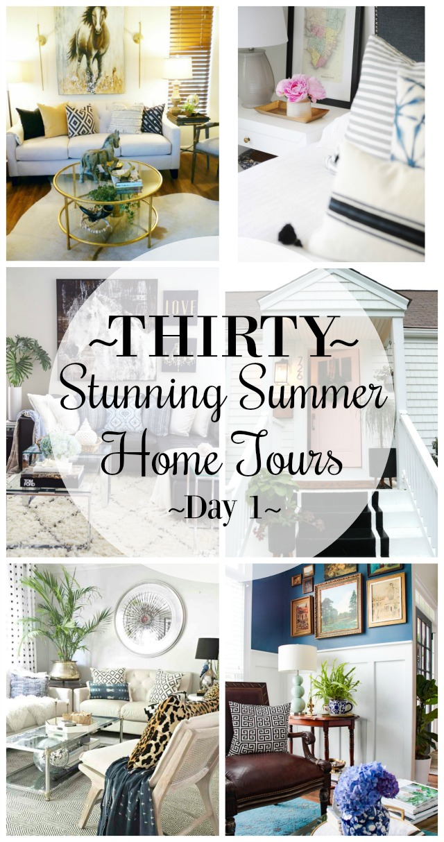 Thirty Stunning Summer Home Tours -Day 1