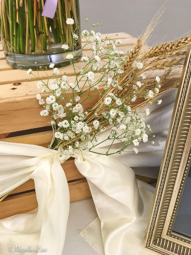 Lavender and wheat reception or event decorations | 11 Magnolia Lane
