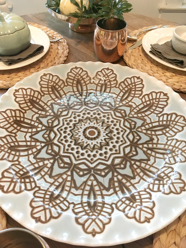 Casual but elegant fall tablescape with copper touches   11 Magnolia Lane