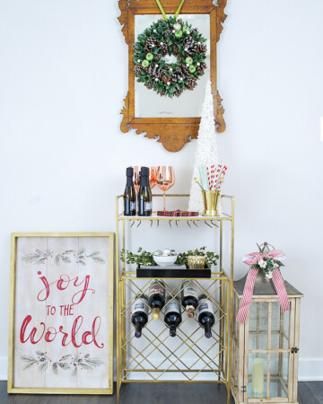 A Christmas Bar Cart Hop