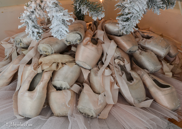 Nutcracker Suite Ballet Themed Christmas Tree-Pointe Shoe Tree Skirt | 11 Magnolia Lane