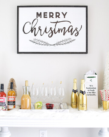 Easy Holiday Entertaining Idea-- Mix Your Own Prosecco Cocktail Bar