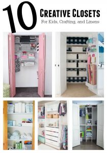 Ten Creative Closets: kids' rooms, craft rooms, offices, and linens | 11 Magnolia Lane