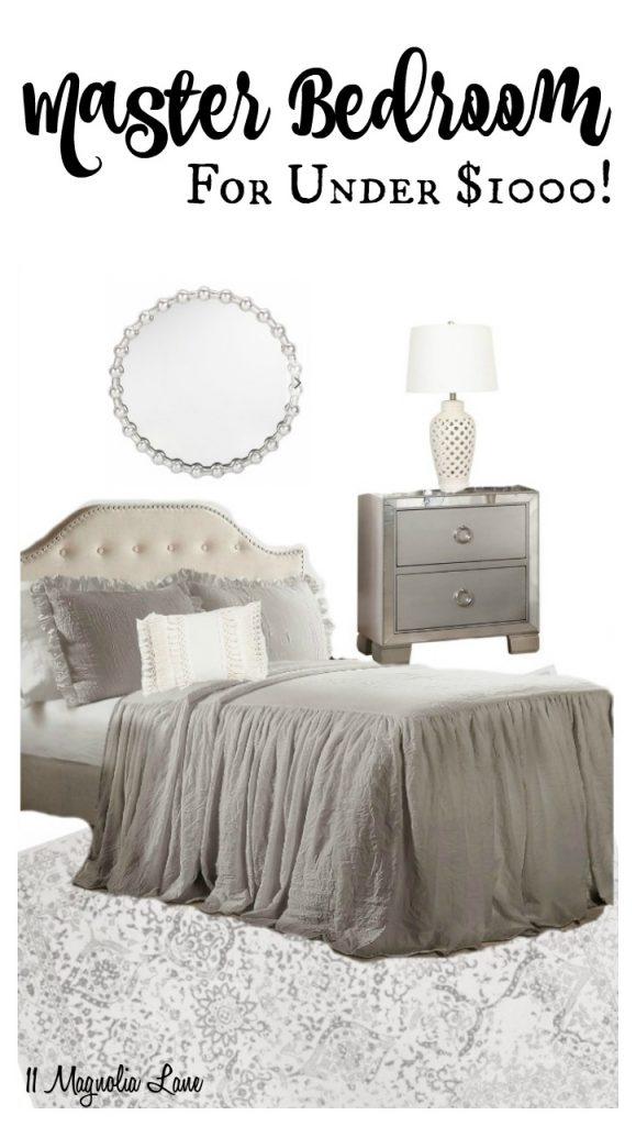 Master Bedroom for Under $1000