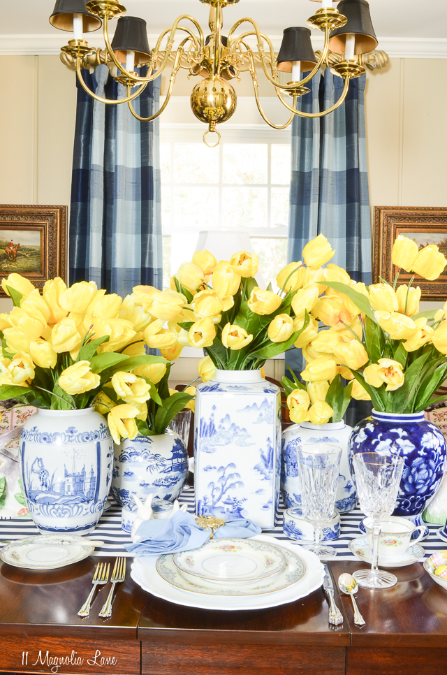 Spring home tour Easter table | 11 Magnolia Lane