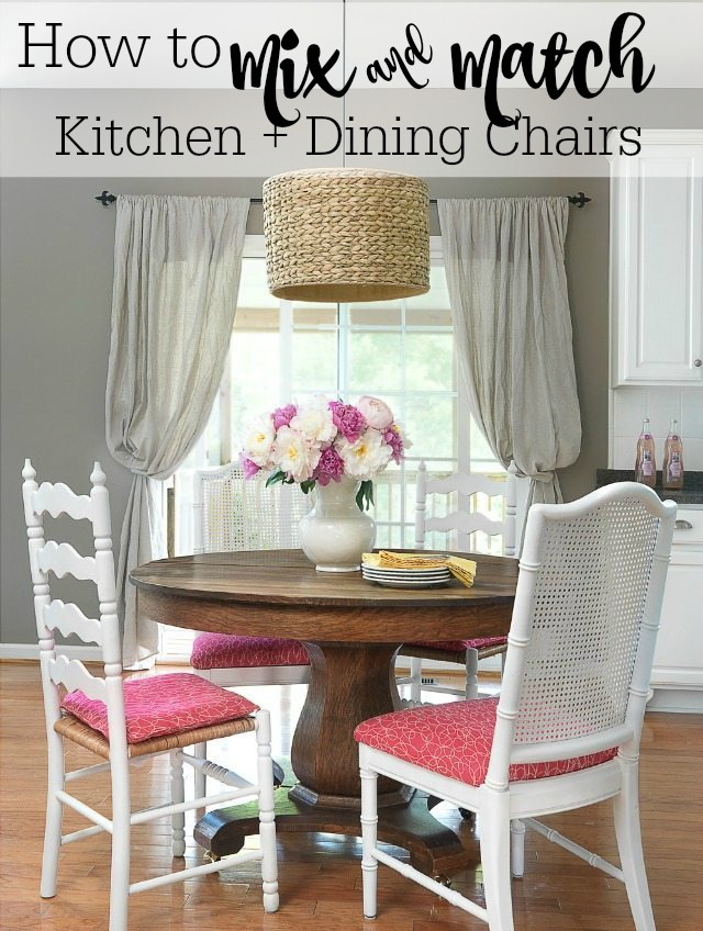 How to mix and match dining room or kitchen chairs | 11 Magnolia Lane