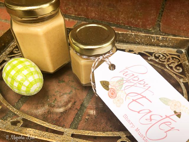 Easter Hostess Gift: Homemade Sharp Mustard Recipe and Printable Easter Tags | 11 Magnolia Lane