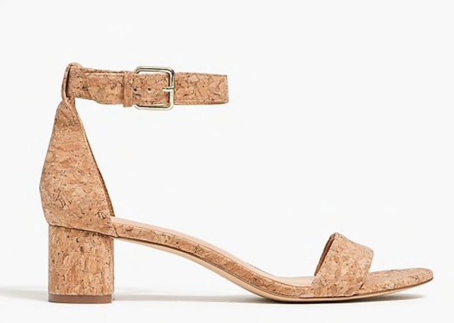 Chunky heel cork sandals