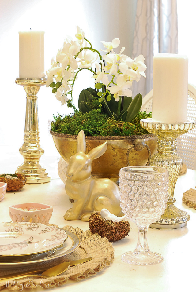 Easy Orchid Centerpiece Easter Tablescape 11 Magnolia Lane
