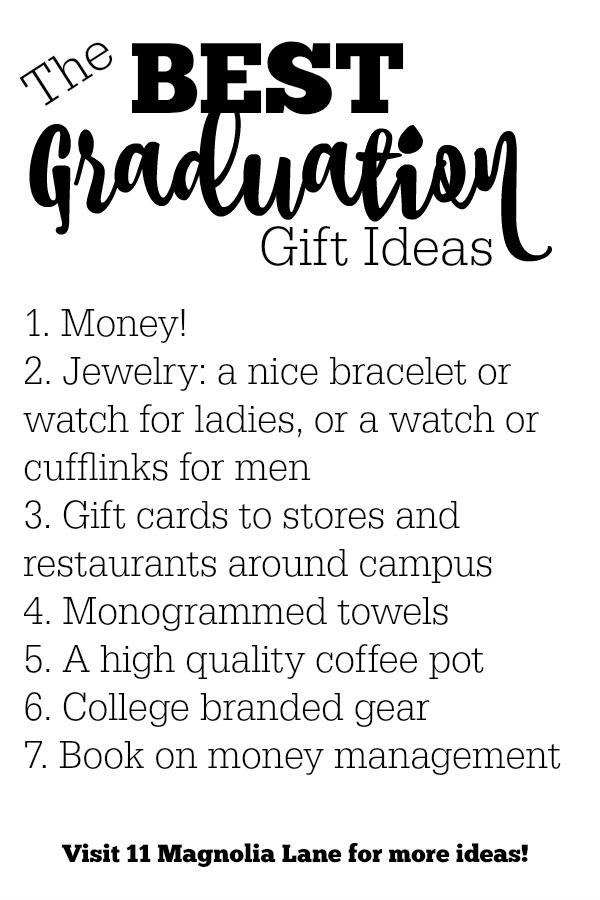 The Best Graduation Gift Ideas for High School Graduates | 11 Magnolia Lane