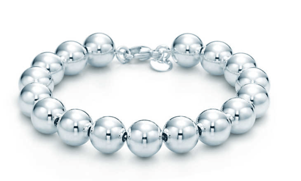 Tiffany silver bead bracelet