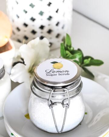 Lemon Sugar Scrub Gift Recipe {Mother's Day/Teacher Appreciation}