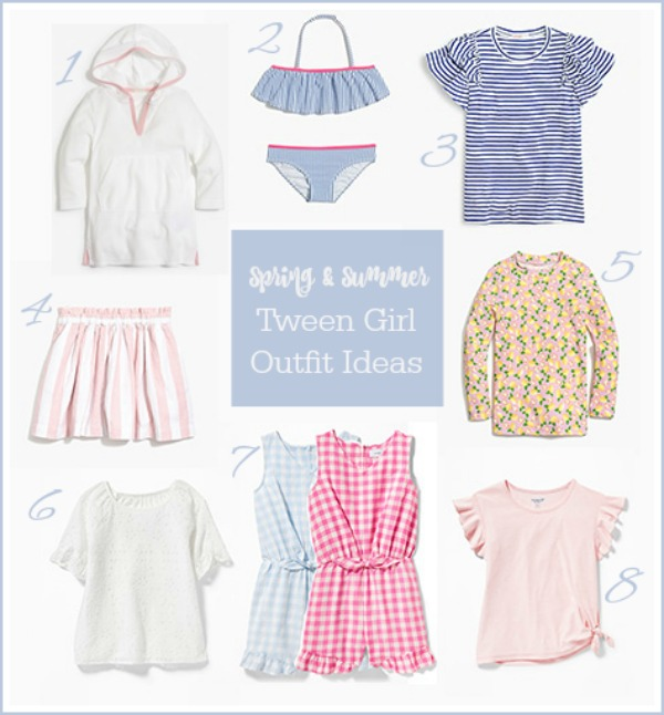 Cute, affordable tween and pre-teen summer girls fashion ideas